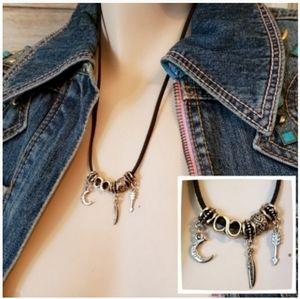 Free Spirit Suede Charm Necklace